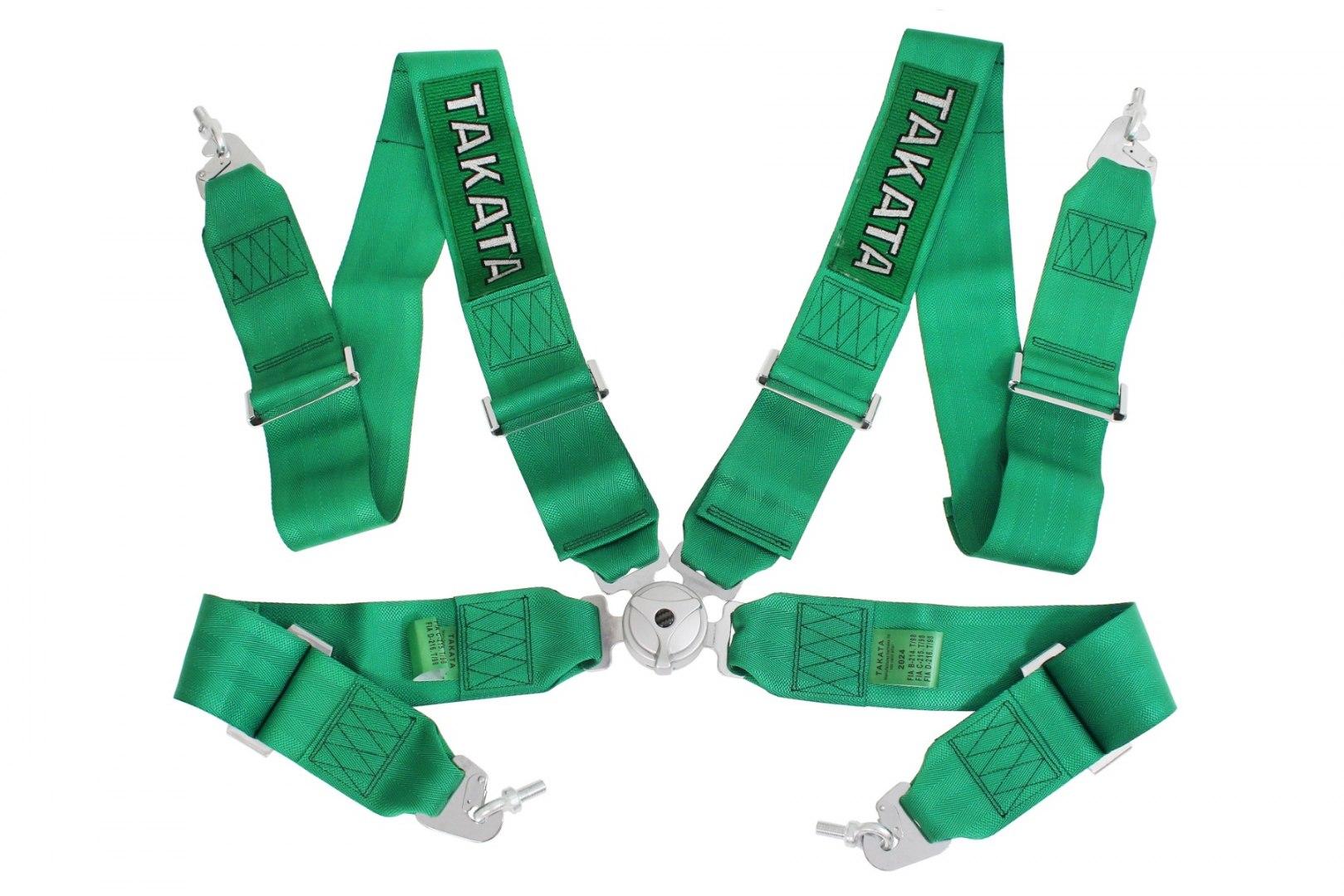 "Pasy sportowe 4p 3"" Green - Takata Replica harness - GRUBYGARAGE - Sklep Tuningowy"